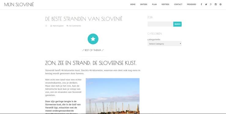 Website MijnSlovenië, Augustus 2015