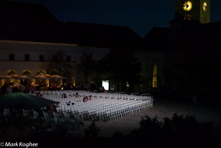 Film under the Stars at the castle of Ljubljana on August 17. In August the square of the castle was turned in to a cinema.