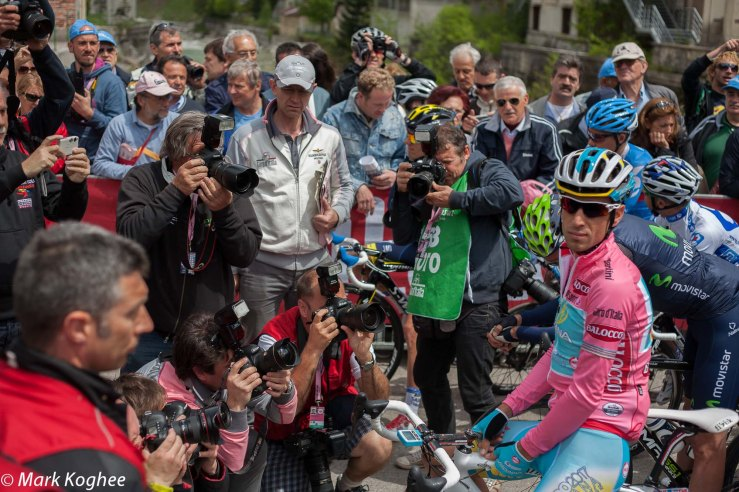 There is no shortage of attention for the classification leaders at the start of stage 11.