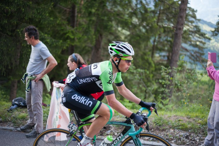 Marc Goos silently rode to a very respectful 35th place in the general classification and 53th of the day.