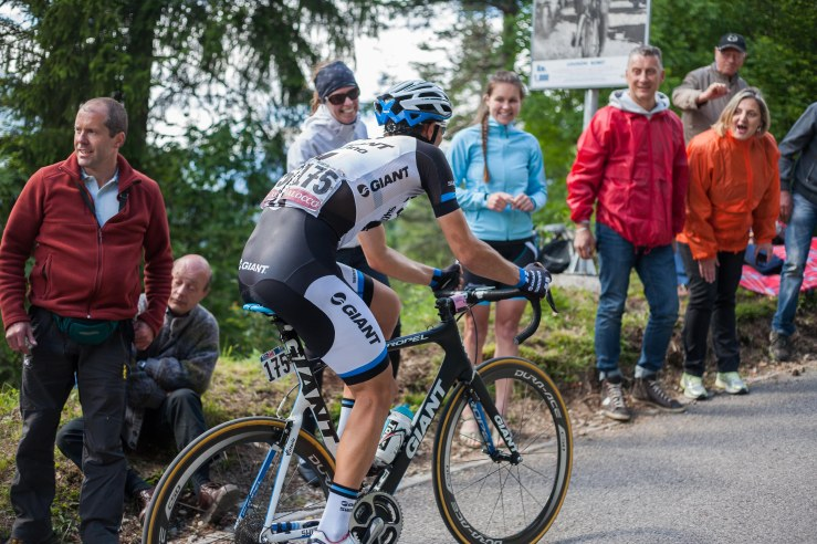 Luka Mezgec is from Slovenia, as were many of the spectators on Monte Zoncolan. ,,Today the atmosphere on Zoncolan was AMAZING! Thank you all! #GooseBumps´´, he tweeted aftewards.