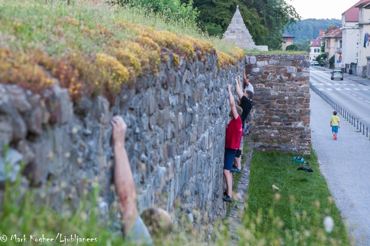 Ljubljana, 20.21 pm, 11 June. It's still above 30 degrees and for wall climbing that's apparently not too hot.