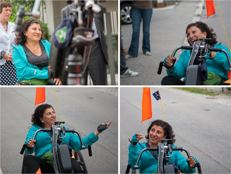 Meet Funda Müjde. Funda is a 52 year old actress from the Netherlands. She is confined to a wheelchair after she was severely injured in an accident in 2007. Still, when you see her, there's 99 per cent chance that she will be laughing/smiling.