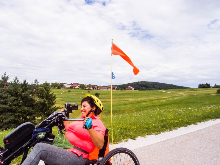 ,,I'm so happy that I can ride again. The rides are the most blissful moments of the day. I feel so free. It's absolute freedom in dependence, because I can't be without help. But on the bike I don't think about that. On the bike I'm again Funda, a tough women. I feel the old me return.''
