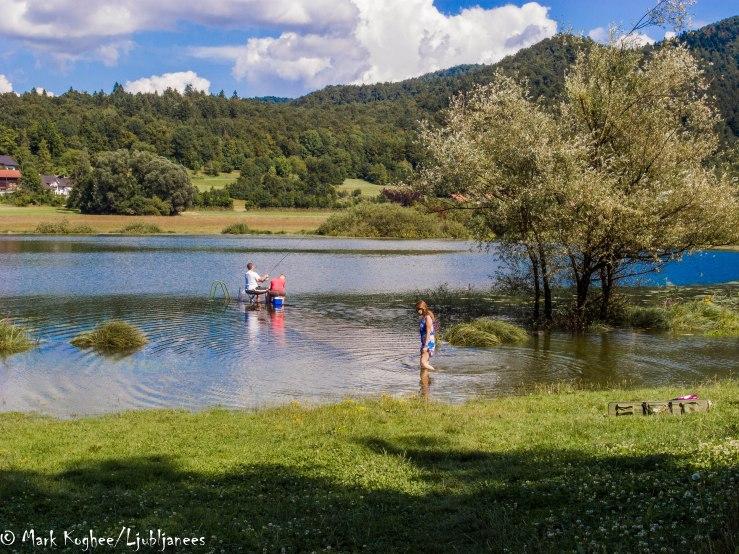 Jezero near Ljubljana Tuesday 15 July.