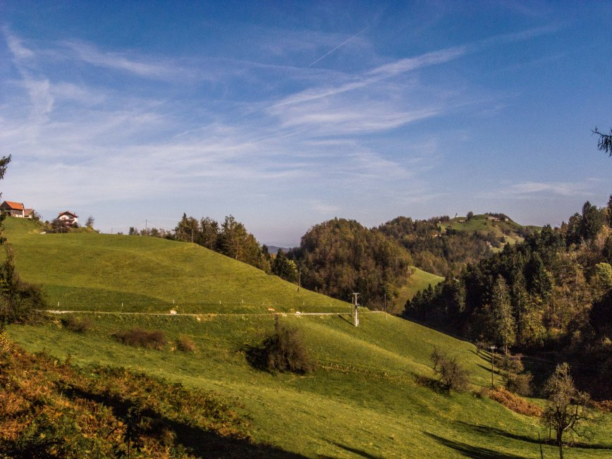 On earth there is no heaven, but there are pieces of it. (Jules Renard) Hills between Koreno and Samotorica, 20 kilometres west of Ljubljana, Slovenia.