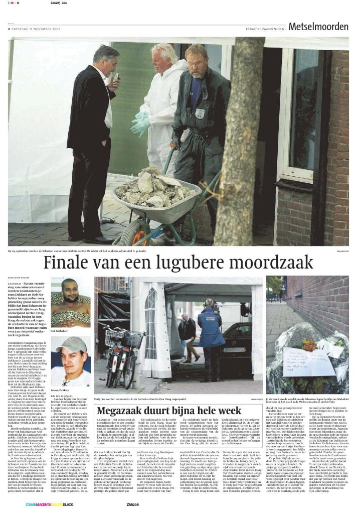 Noordhollands Dagblad, 11 November 2006.