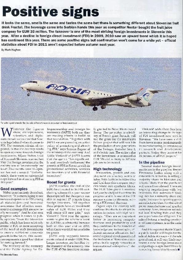 The Slovenia Times, Autumn 2011