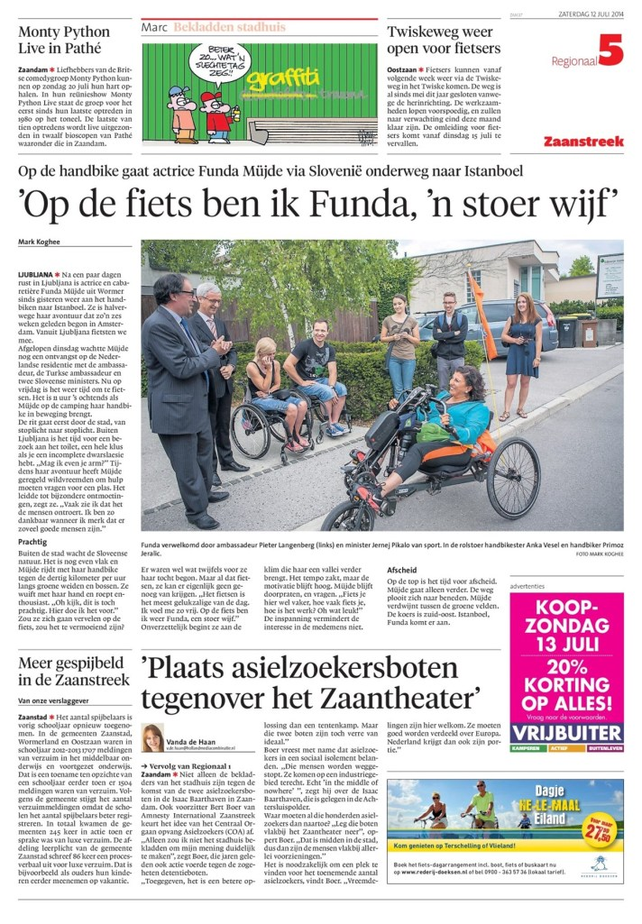Noordhollands Dagblad, 12 July 2014