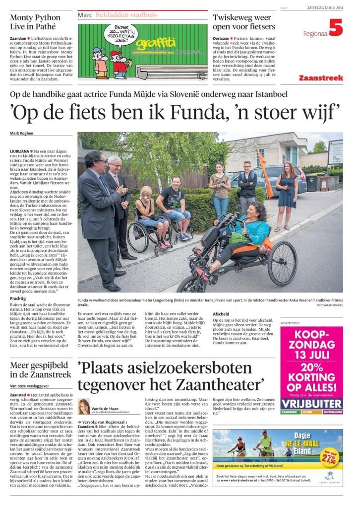 Noordhollands Dagblad, 12 July 2014
