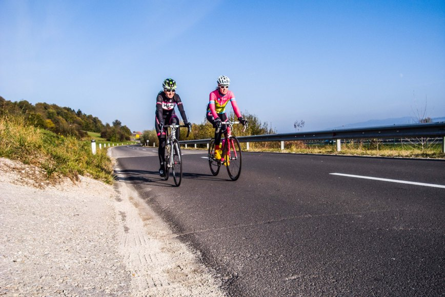 Alenka Novak and Marjetka Conradi, best known by their first names Alenka and Marjetka, are cyclists from Slovenia popular across the entire republic of Slovenia. (Ljubljanees)
