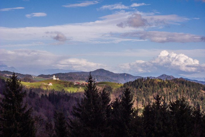 A Slovenian hill top without church is like a city without buildings.