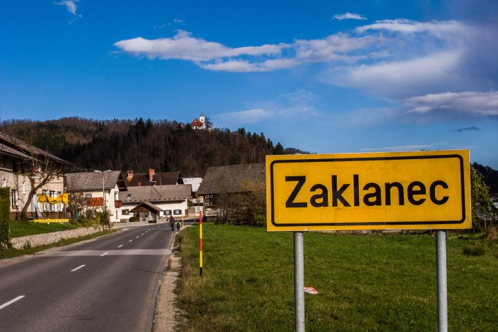 Zaklanec is a tiny village with a dramatic history. In 1920 a fire destroyed the village, in 1943 the Germans bombed Zaklanec.