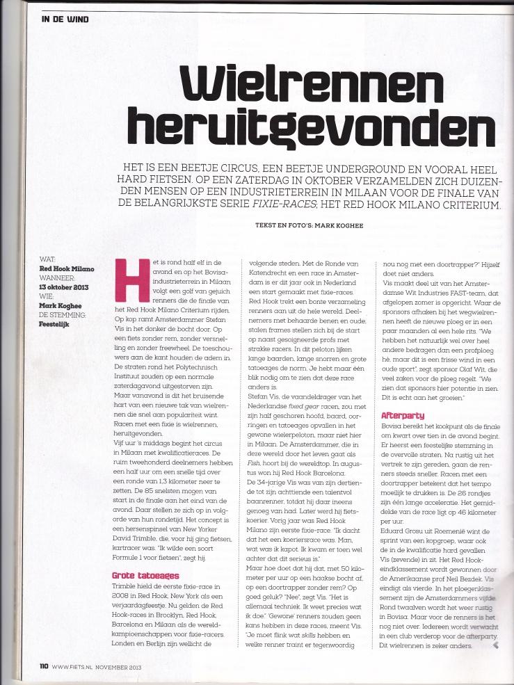 Fiets, magazine. November 2013
