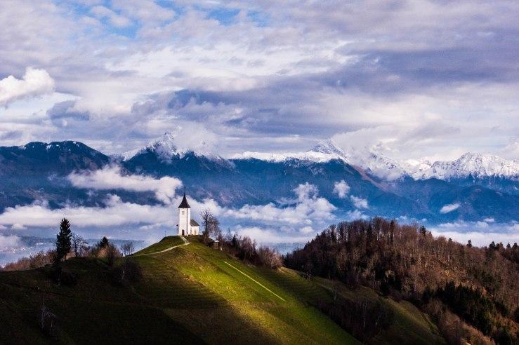 "Saints Primus and Felician Church, Jamnik.   46°16'30.89"" 14°12'50.27"""